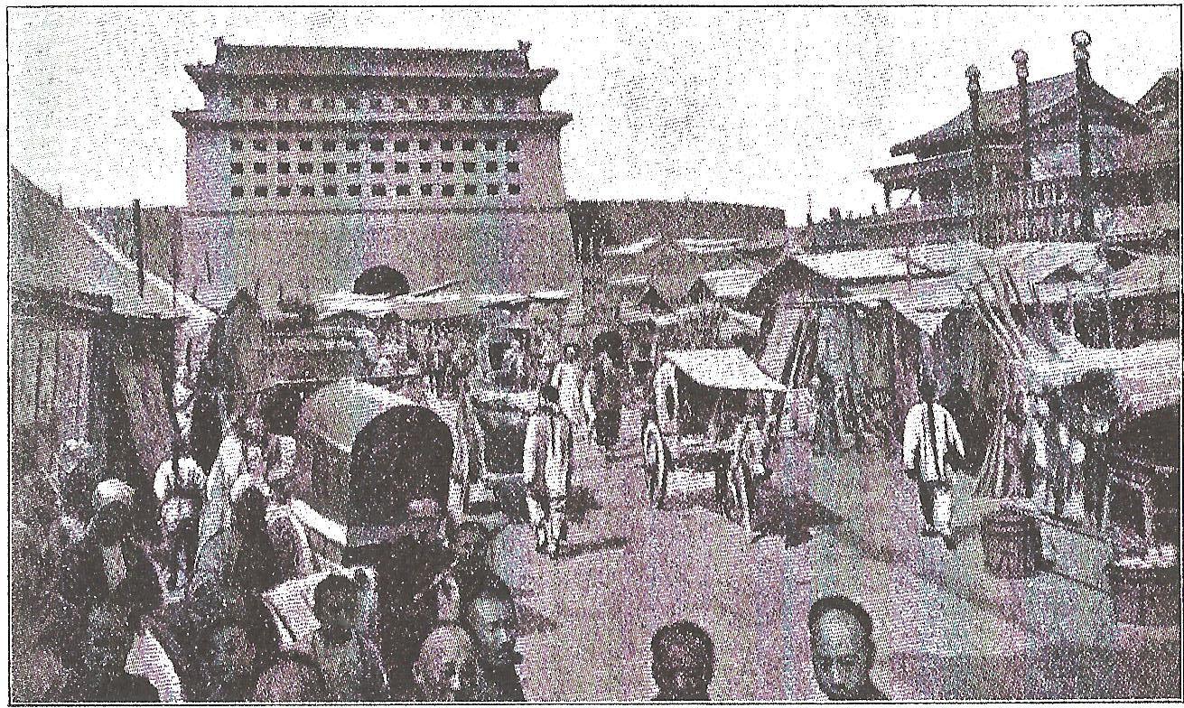 1900 Peking mittleres Südtor Juli1900