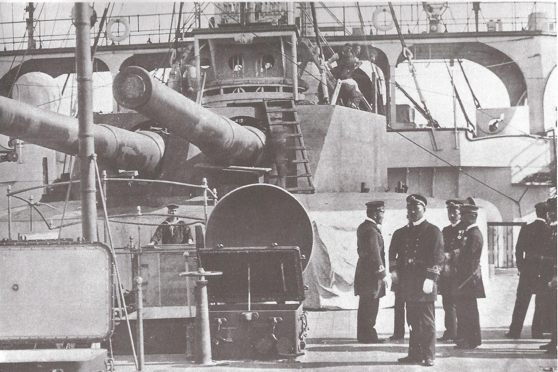 1904 Schiff Asahi Zwillingsturm
