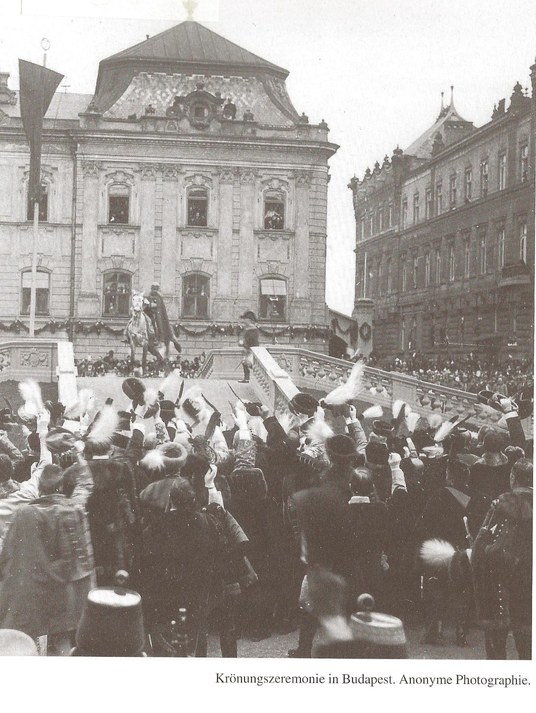 1916-12 Krönung Budapest kaiser Karl