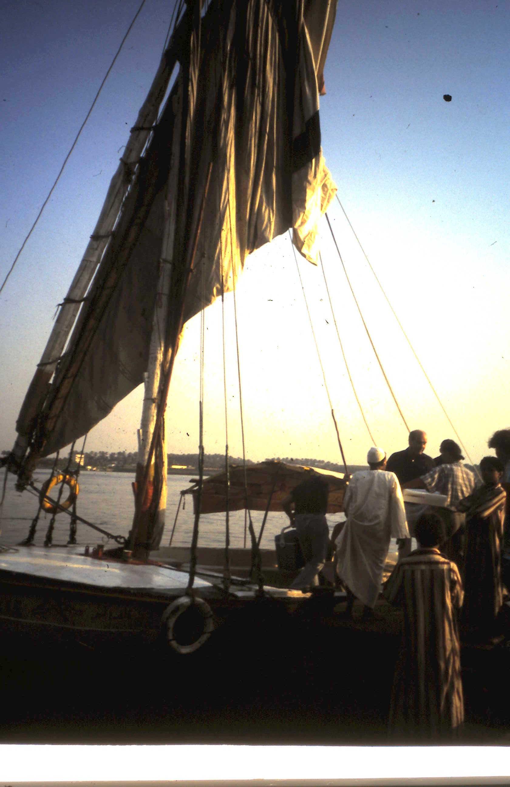 1986-03-01 Falukadinner auf dem Nil