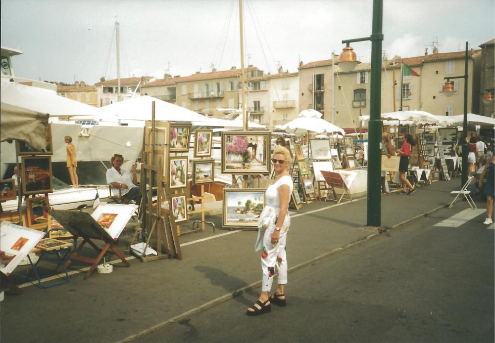 1990_Helga in St Tropez 1990